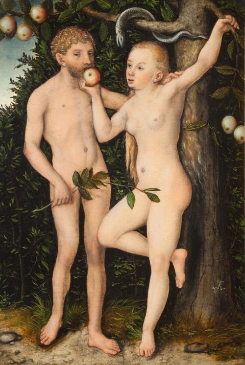 The National Gallery in Prague Adam And Eve (1538 - 1539)Details Lucas Cranach the Elder