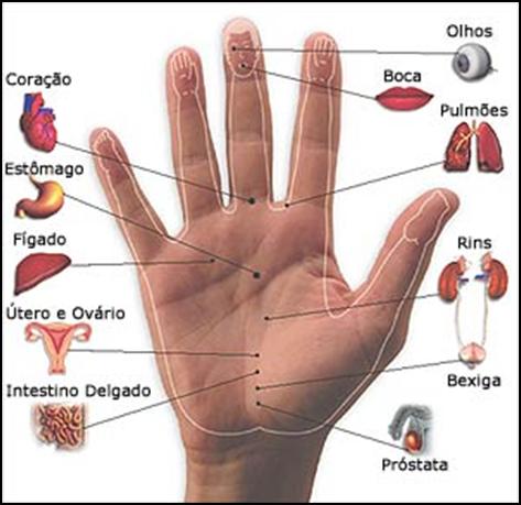 Reflexologia de las manos