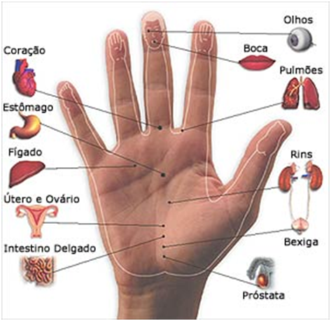 Resultado de imagem para pontos de pressão nas mãos